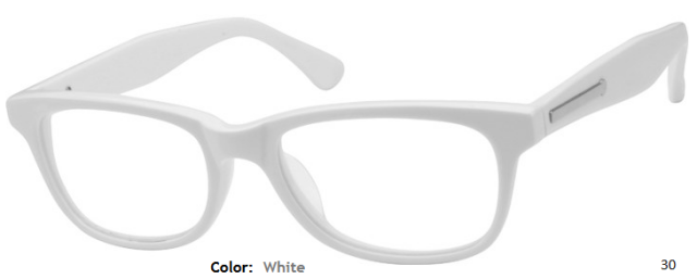 plastic frame wayfarer full rim custom reading glasses ce0784 view images - White Framed Glasses