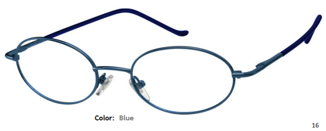 METAL FRAME-OVAL-Full Rim-Spring Hinges-Custom Reading Glasses-CE0018