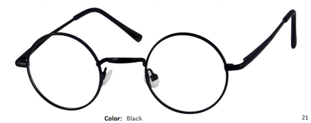 METAL FRAME-ROUND-Full Rim-Spring Hinges-Custom Reading Glasses-CE0054