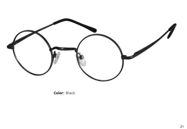 METAL FRAME-ROUND-Full Rim-Spring Hinges-Custom Reading Glasses-CE0055