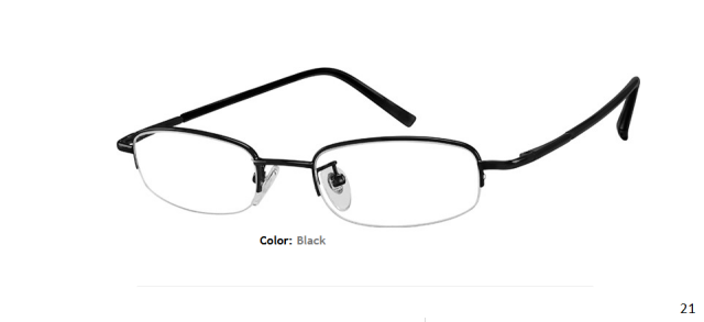METAL FRAME-OVAL-HALF RIM-Spring Hinges-Custom Reading Glasses-CE0254