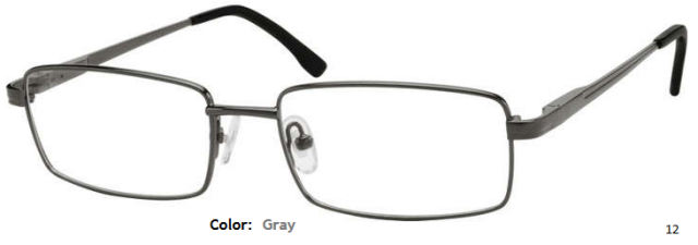 STAINLESS STEEL FRAME-RECTANGLE-Full Rim-Spring Hinges-Custom Reading Glasses-CE0414