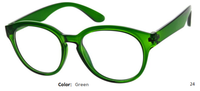 PLASTIC FRAME-ROUND-Full Rim-Custom Reading Glasses-CE0602