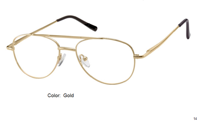 METAL FRAME-AVIATOR-Full Rim-Spring Hinges-Custom Reading Glasses-CE0914