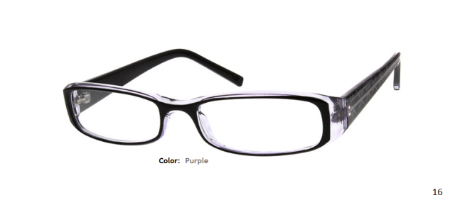 PLASTIC FRAME-RECTANGLE-Full Rim-Custom Reading Glasses-CE1062