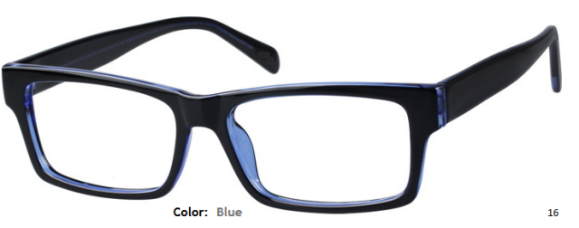 PLASTIC FRAME-RECTANGULAR-Full Rim-Custom Reading Glasses-CE1521