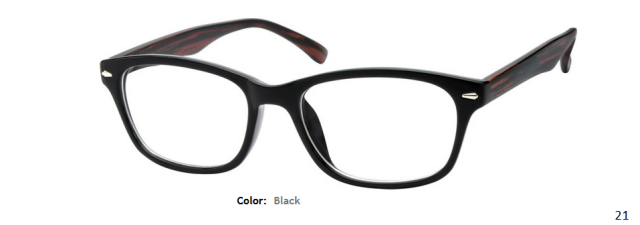 PLASTIC FRAME-WAYFARER-Full Rim-Custom Reading Glasses-CE2282