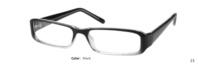 PLASTIC FRAME-RECTANGLE-Full Rim-Custom Reading Glasses-CE2362
