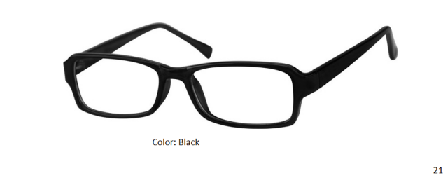 PLASTIC FRAME-RECTANGLE-Full Rim-Custom Reading Glasses-CE3432