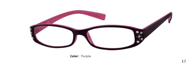 PLASTIC FRAME-RECTANGLE-Full Rim-Custom Reading Glasses-CE3728