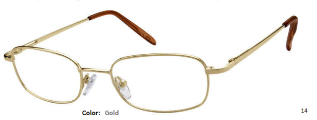 METAL FRAME-RECTANGLE-Full Rim-Spring Hinges-Custom Reading Glasses-CE4314