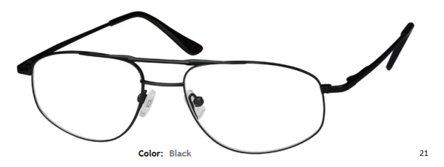 METAL FRAME-AVIATOR-Full Rim-Spring Hinges-Custom Reading Glasses-CE4354