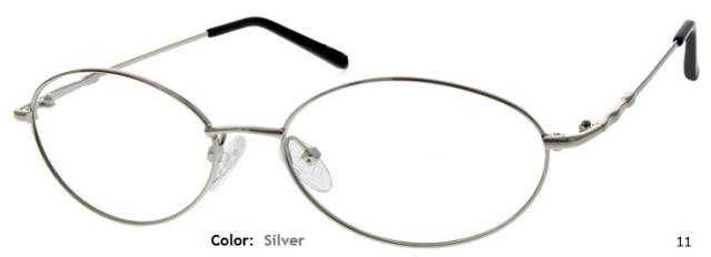METAL/STAINLESS STEEL FRAME-OVAL-Full Rim-Spring Hinges-Custom Reading Glasses-CE5374