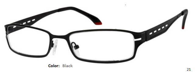 STAINLESS STEEL FRAME-RECTANGLE-Full Rim-Custom Reading Glasses-CE5761