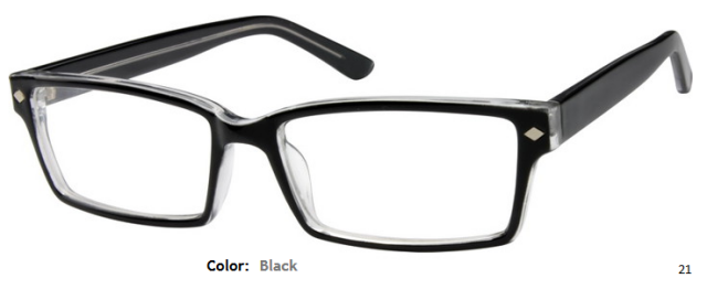 PLASTIC FRAME-RECTANGULAR-Full Rim-Custom Reading Glasses-CE5872