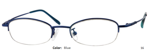 STAINLESS STEEL FRAME-OVAL-HALF RIM-Custom Reading Glasses-CE6364