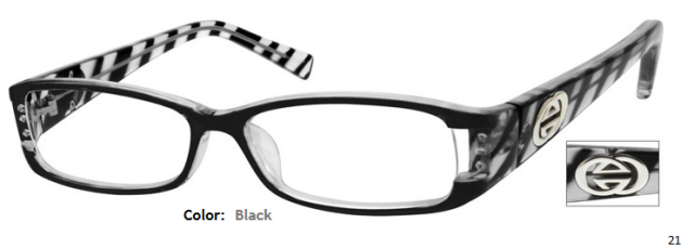 PLASTIC FRAME-RECTANGULAR-Full Rim-Custom Reading Glasses-CE6562