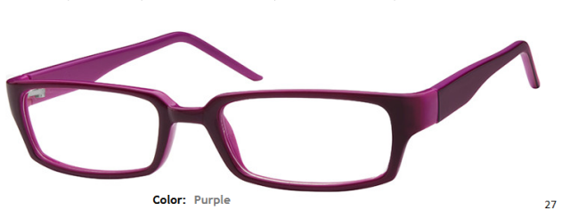 PLASTIC FRAME-RECTANGLE-Full Rim-Custom Reading Glasses-CE6933