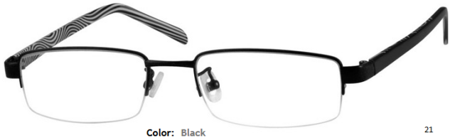 STAINLESS STEEL FRAME-RECTANGULAR-HALF RIM-Custom Reading Glasses-CE6993