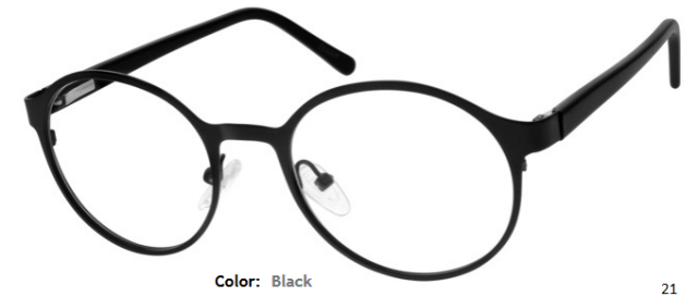 STAINLESS STEEL FRAME-ROUND-Full Rim-Spring Hinges-Custom Reading Glasses-CE7976
