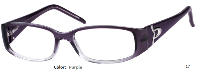 PLASTIC FRAME-RECTANGLE-Full Rim-Spring Hinges-Yellow-Purple-Custom Reading Glasses-CE7982