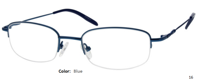 METAL/STAINLESS STEEL FRAME-RECTANGLE-HALF-RIM-Custom Reading Glasses-CE8164
