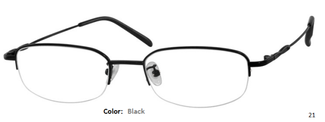 METAL/STAINLESS STEEL FRAME-RECTANGLE-HALF RIM-Custom Reading Glasses-CE8264