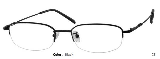 METAL/STAINLESS STEEL FRAME-RECTANGLE-HALF RIM-Custom Reading Glasses-CE8269