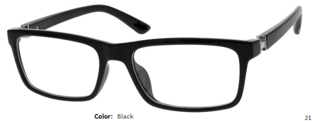 PLASTIC FRAME-RECTANGLE-Full Rim-Custom Reading Glasses-CE9002