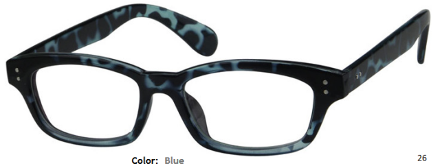 PLASTIC FRAME-WAYFARER-Full Rim-Custom Reading Glasses-CE9032