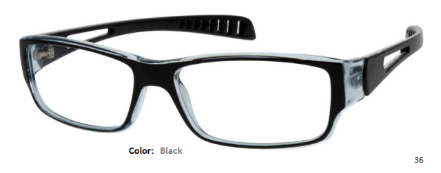 PLASTIC FRAME-RECTANGLE-Full Rim-Custom Reading Glasses-CE9462