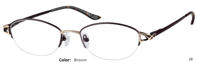 METAL FRAME-OVAL-HALF RIM-Spring Hinges-Custom Reading Glasses-CE9755