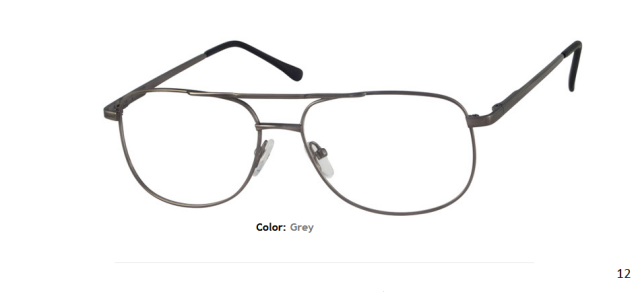 METAL FRAME-AVIATOR-Full Rim-Spring Hinges-Custom Reading Glasses-CE9814