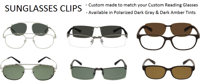 Custom matching Sunglasses Clips