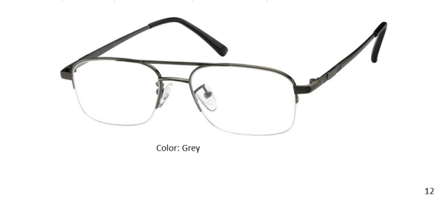TITANIUM FRAME-AVIATOR-HALF RIM-Custom Reading Glasses-CE0973
