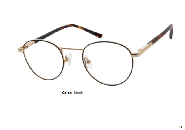 METAL FRAME-ROUND-Full Rim-Custom Reading Glasses-CE3151