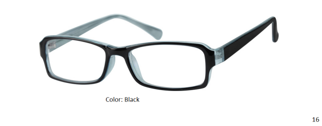 PLASTIC FRAME-RECTANGLE-Full Rim-Custom Reading Glasses-CE3438