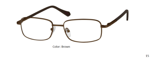 STAINLESS STEEL FRAME-RECTANGLE-Full Rim-Spring Hinges-Custom Reading Glasses-CE4054