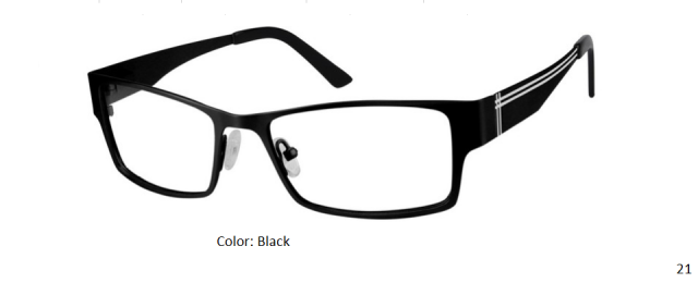 STAINLESS STEEL FRAME-RECTANGLE-Full Rim-Spring Hinges-Custom Reading Glasses-CE5195