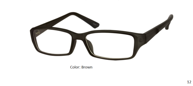 PLASTIC FRAME-RECTANGLE-Full Rim-Custom Reading Glasses-CE7062