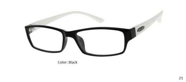 PLASTIC FRAME-RECTANGULAR-Flexible-Full Rim-Custom Reading Glasses-CE7842